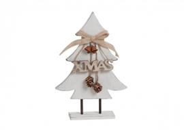 Houten Kerstboom met decoratie