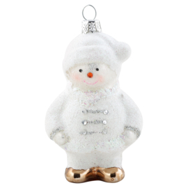 Snowman Glass white hanging