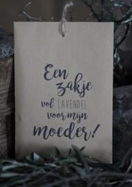 Geurzakje Lavendel met tekst Moeder