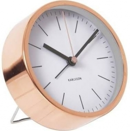 Karlsson Alarmklok Minimal Copper White