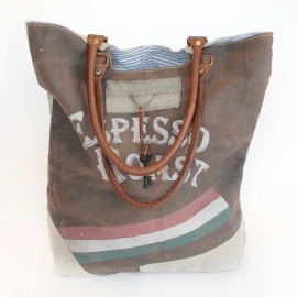 Canvas Shopper Espesso Roast