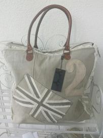 Canvas Bag Grijs/Zand kleur