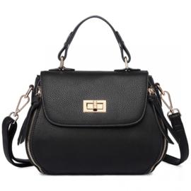Miss Lulu hand/schouder tas zwart
