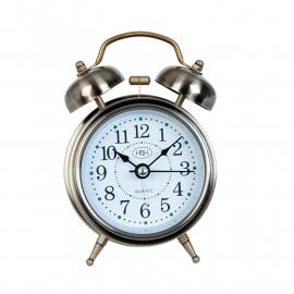 Clayre&Eef  | Wekker  Ijzer | 8*5*12 cm| zilverkleur