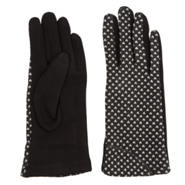 Juleeze Handschoenen Cute Hearts Zwart