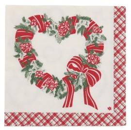 Clayre&Eef | Papieren servetten (20)  | 33*33 cm| rood