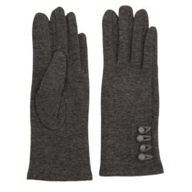 Juleeze Handschoenen Small Buttons Grijs