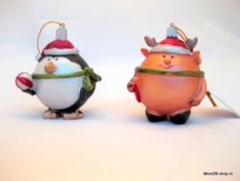 Hangdecoratie Kerstfiguur Pinguin en Rendier