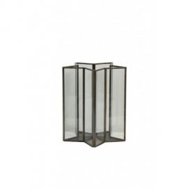 WINDLICHT STER 17X20 CM BRONDBY GLAS METAAL