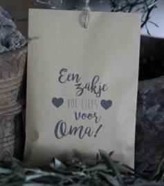 Geurzakje Lavendel met tekst Oma