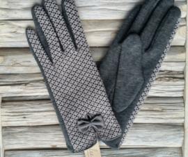 Juleeze Handschoenen Eleanor grijs/taupe gemeleerd