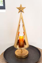 Kerstboom Theelichthouder Londen Goud Metaal Homesociety