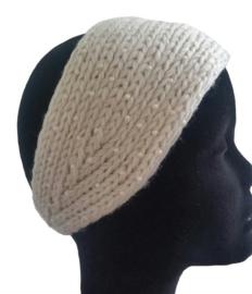 Haarband Off White met pareltjes Juleeze