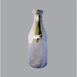 Decoratieve fles zilver middel