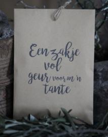 Geurzakje Lavendel met tekst Tante
