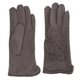Juleeze Handschoenen Glitter Grijs