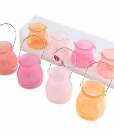 Theelicht Bogense mix roze s/4