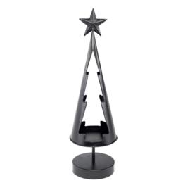 Kerstboom Theelichthouder Londen Zwart Metaal Homesociety