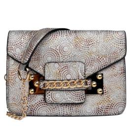 Miss Lulu Cross Body Bag Silver