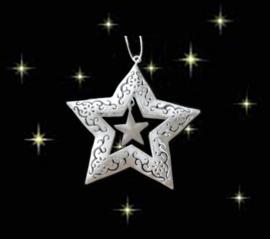 Kerst ster wit