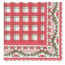 Clayre & Eef  | Papieren servetten (20)  | 33*33 cm| rood