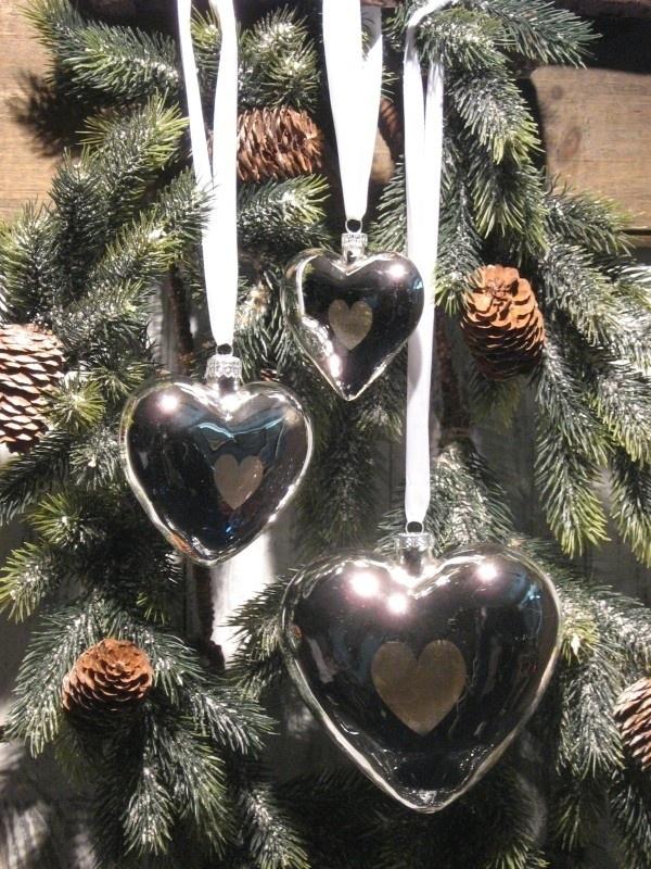 Hart zilver met lint Appletree