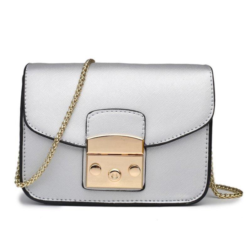 Miss Lulu Body Cross Bag Silver