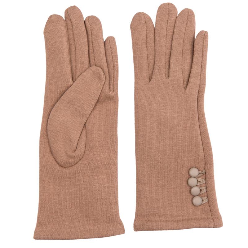 Juleeze Handschoenen Small Buttons Camel