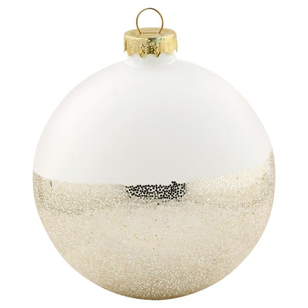 Gate Noir Ball glass Plain white w/gold glitter