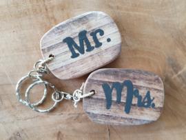 Sleutelhanger Mr.&Mrs.