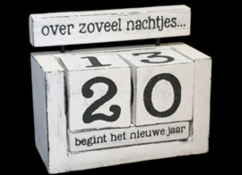 Kalenderblok wit