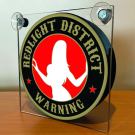 Warning Redlight District (Gold)