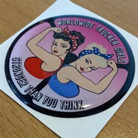 Worldwide Trucker Girls - 3D Sticker