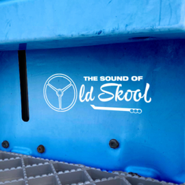 Instap Stickerset The Sound of Oldskool (20cm) - Wit