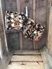 Dobbelsteen Deensepluche bruin 10x10