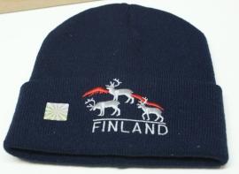 Finse muts met borduring Rendieren Finland