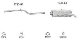 Complete Uitlaat Citroen Saxo 1.1 02-1996 tm 01-2000. (23)