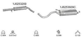 Complete Uitlaat Audi A3 1.6 09-1996 tm 06-2003 (3)