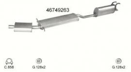 Complete Uitlaat Fiat Multipla 1.6 01-1999 tm 2001 (2157)