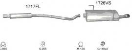 Complete Uitlaat Peugeot 206 cc 2.0 Cabrio BJ 10/2000 tm 2007 (1513)