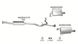 Complete uitlaat Subaru Legacy Kombi 2.0 06/2005 - Heden (2240)