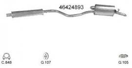 Complete Uitlaat Fiat Punto 1.2B Type 75 01-1994 tm 10-1998 (31)