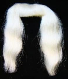 Snor Sint synthetisch wit