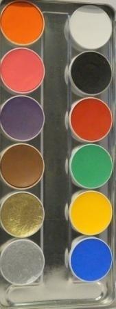 Aquacolor palet 12kl .SN.