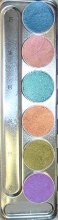 Aquacolor palet 6 kl .Interferenz.