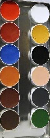 Aquacolor palet 12kl .B.