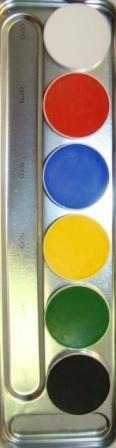 Aquacolor palet 6kl .A.