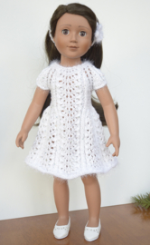 J0002 *White Dress & Headband