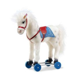 Steiff Paard Olivia op wielen. EAN 006814