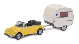 S26513 VW Kever + Caravan Knaus 1:87